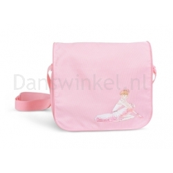 Bloch A322 roze-schoudertas-voor-ballet met ballerina print