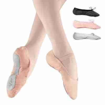 Balletschoenen van Leer met Doorlopende Zool Alista Elite Zalmroze