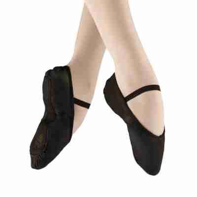 Zwarte Balletschoenen van Leer met Doorlopende Zool Alista Elite