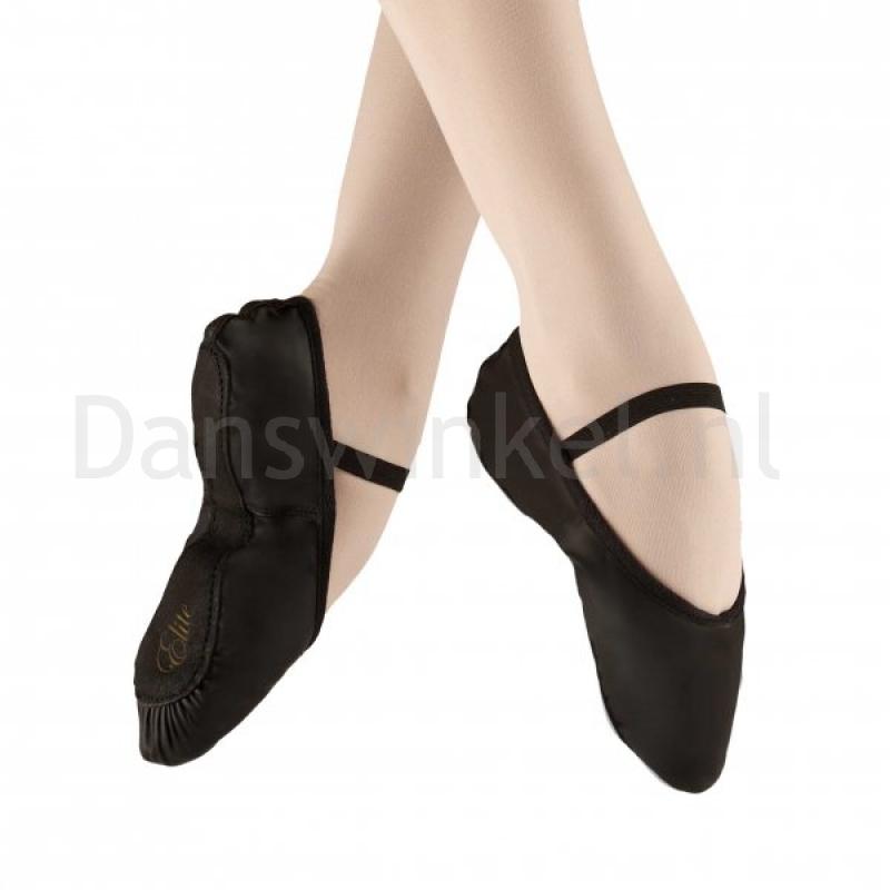 Alista Elite Zwarte Balletschoenen met doorlopende zool