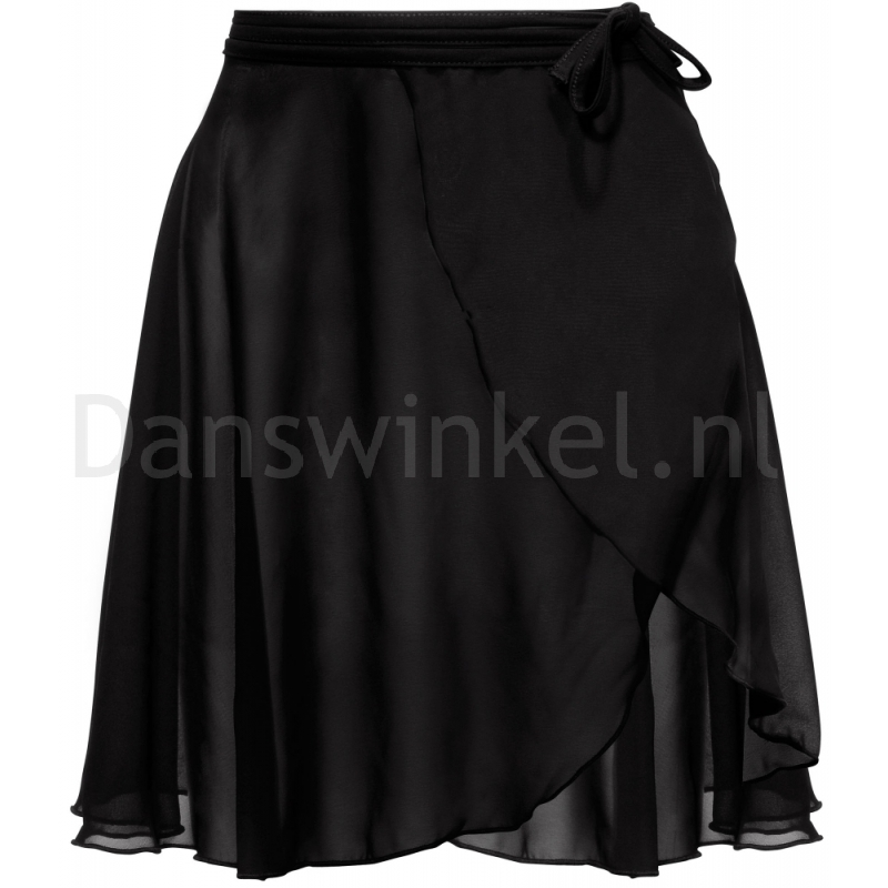 Papillon PA3071 Zwarte Lange Wikkelrok voor Dames