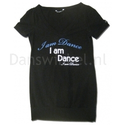 Papillon I am Dance shirt met V-hals
