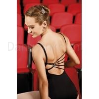 so danca balletpak zwart zwarte leotard mooie rug