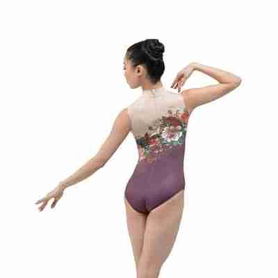 Ballet Rosa Romane Mouwloos Balletpak met Bloemenmotief