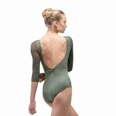 Ballet Rosa Rosella Dames Balletpak Groen Achterkant