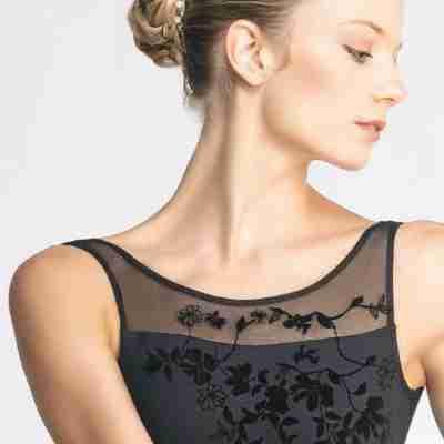 Ballet Rosa Adele Mouwloos Balletpak met Bloemenmotief