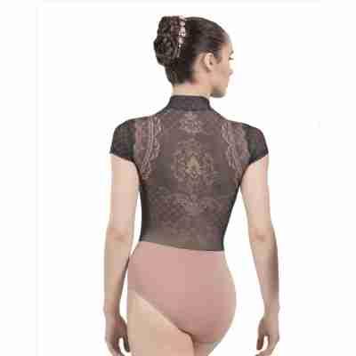 Ballet Rosa Eve Fluwelen Balletpak Nude en Zwart