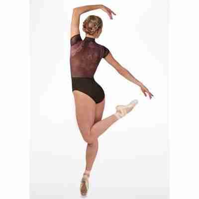 Ballet Rosa Eve Fluwelen Balletpak Zwart Achterkant