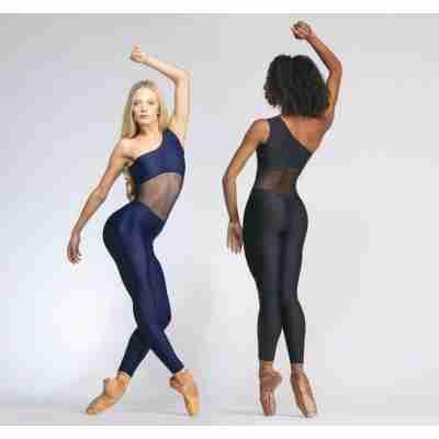 Ballet Rosa Unitard met Schouderbandje en Open Middel