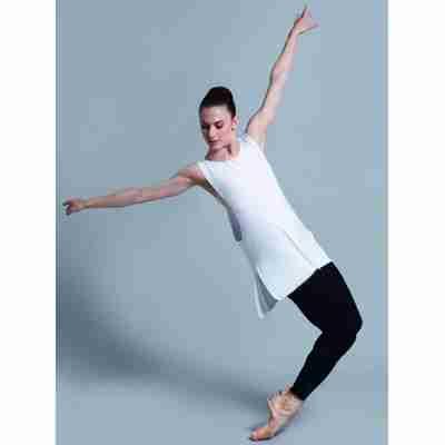 Ballet Rosa Mouwloze Danstop van Bamboeviscose