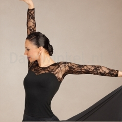 Capezio Long-Sleeve Lace Top