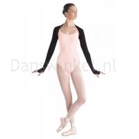 zwarte Warme ballet Bolero Bloch dames M1105 met duimgaten