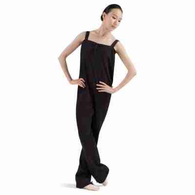 Bloch zwart katoenen opwarm unitard pak ballet BL_U1207