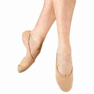 heren splitzool canvas balletschoen BL-S0277M huidskleur nude