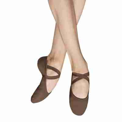 Heren balletschoen toffee stretch canvas Bloch bl_S0284m