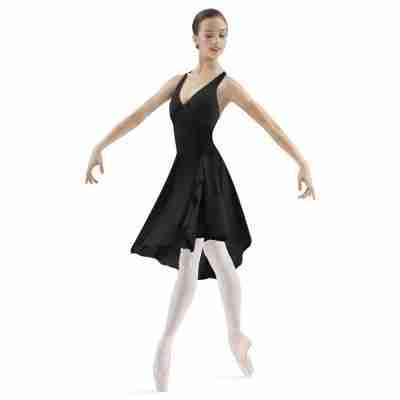 Bloch Dames Halter Balletpak met Asymmetrische Rok M1018