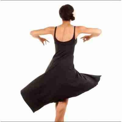 zwarte dames DansJurk bloch M1017 ballet tango latin