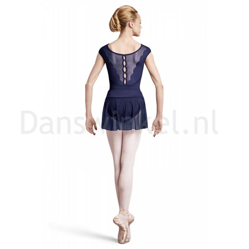 blauwe Bloch dames BalletRok R2931 Coeus achterkant