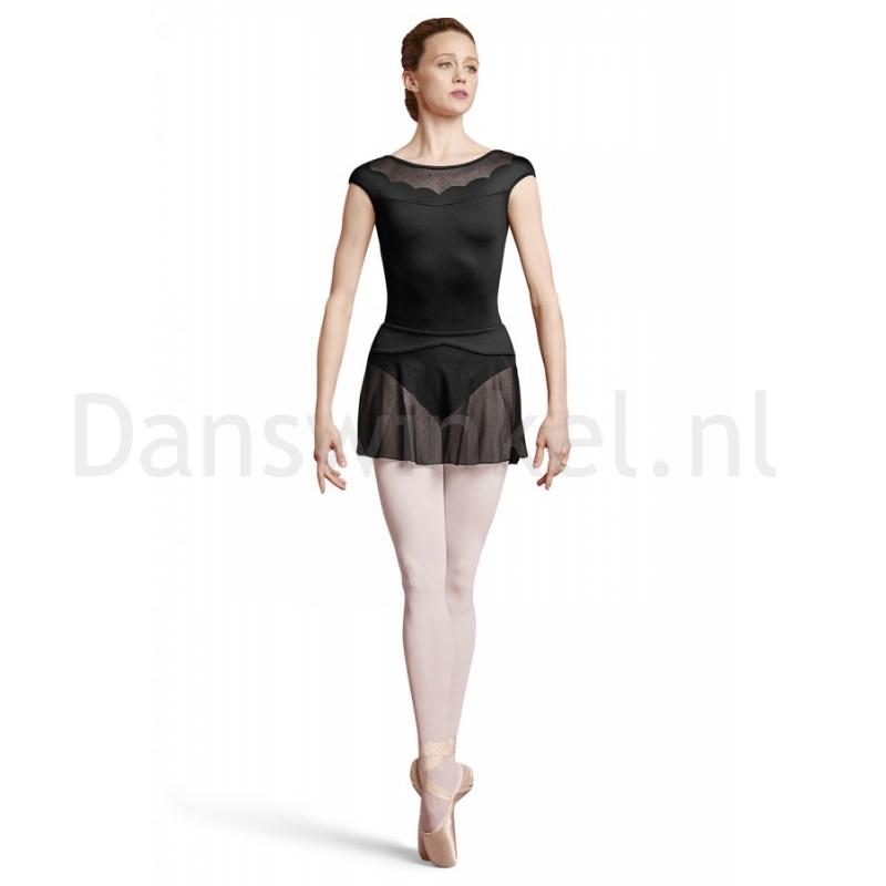 Bloch dames BalletRok mesh R2931 Coeus zwart achter
