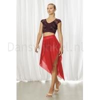 Bloch dames DansRok R3541 Mireya rood voorkant