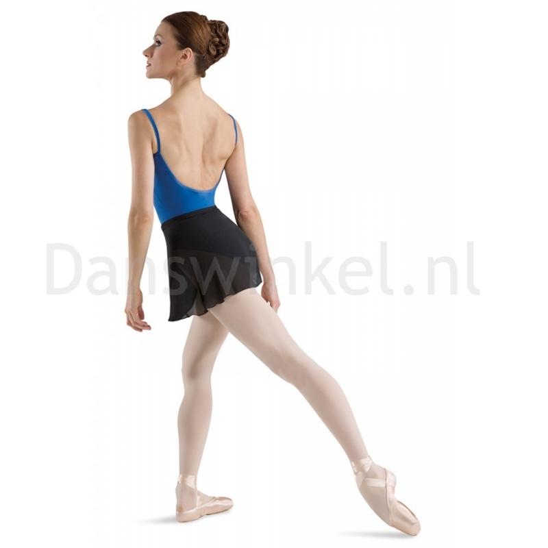 zwarte dames BalletRok bloch R5130 matte voile