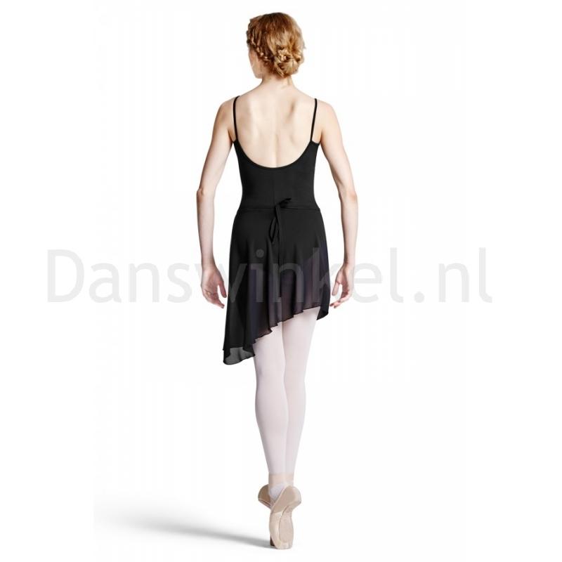 Bloch Maroney dames Asymmetrische Ballet WikkelRok zwarte voile R8811