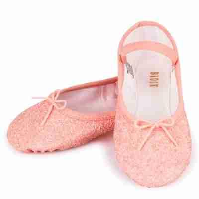 Bloch Meisjes roze glitter Balletschoen S0291G