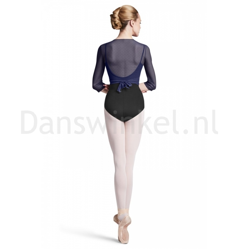 navy Bloch Z2916 Embla ballet wikkelvest met polkdots