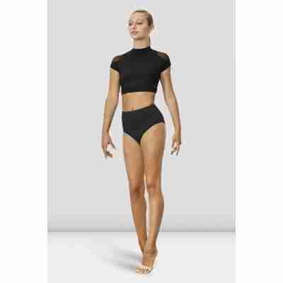 Bloch Dames Ballet Top Z7830 Hanae zwart voorkant