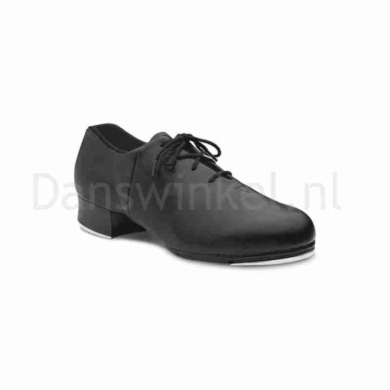 Bloch zwarte Lederen Dames Tap dansschoenen met Splitzool en Vetersluiting Tap Flex S0388L