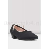 Bloch Accent Low Heel Canvas Character Shoe Black