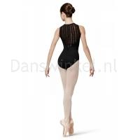 Zwart balletpak dames bloch laguna l7725 achterkant