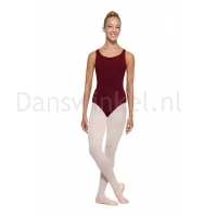 Bloch Adagio Tank leotard with Pinch Front Burgundy