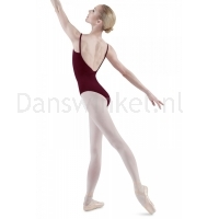 Bloch Royal Pinch Front & Back Leotard Burgundy
