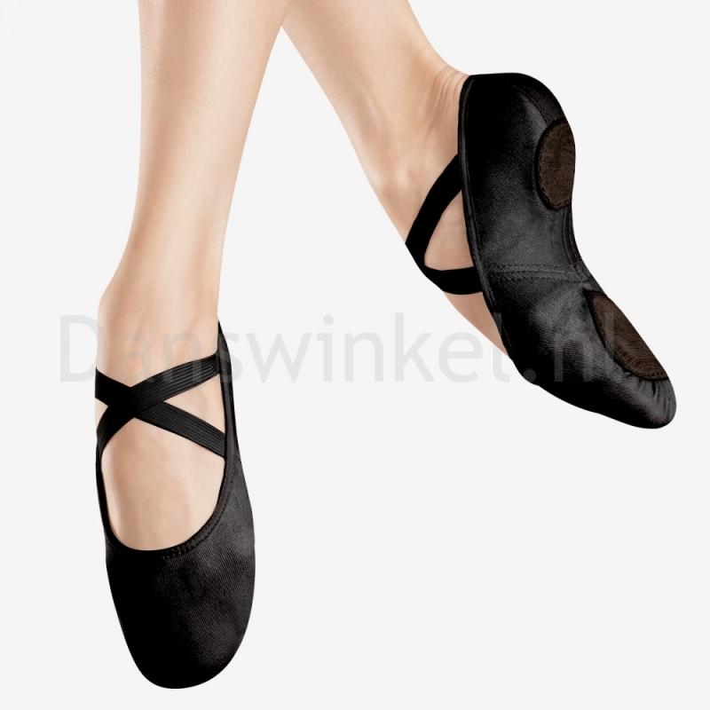 Bloch Canvas Infinity Stretch Ballet Shoe Zwart