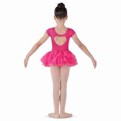 Bloch Ife CL8012 Meisjes ballet tutu met hart hot pink