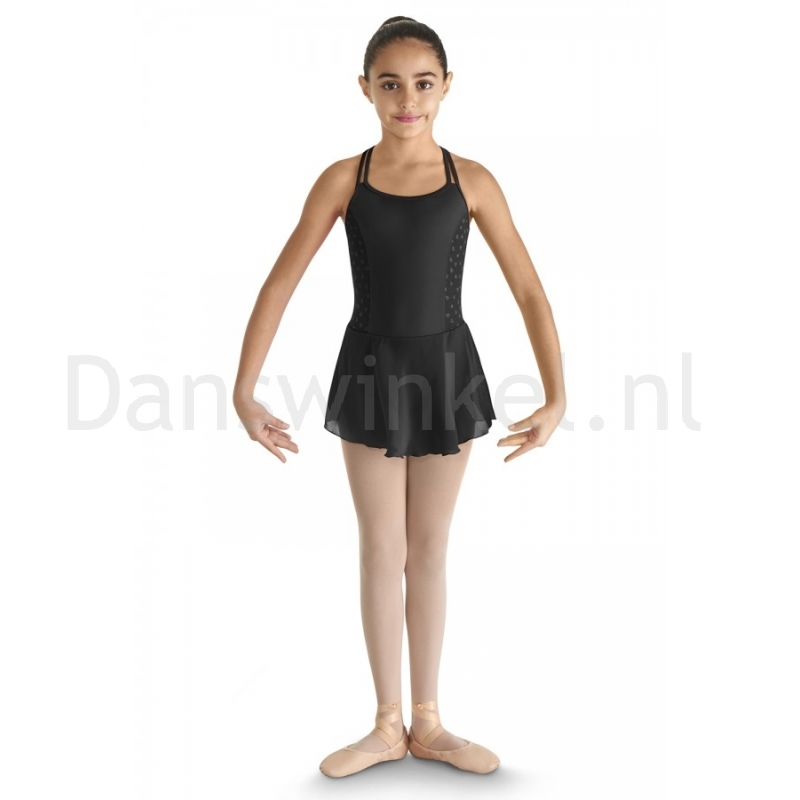 Bloch Asar Heart Mesh Side Panelled Twin Strap Skirted Camisole Leotard CL8237