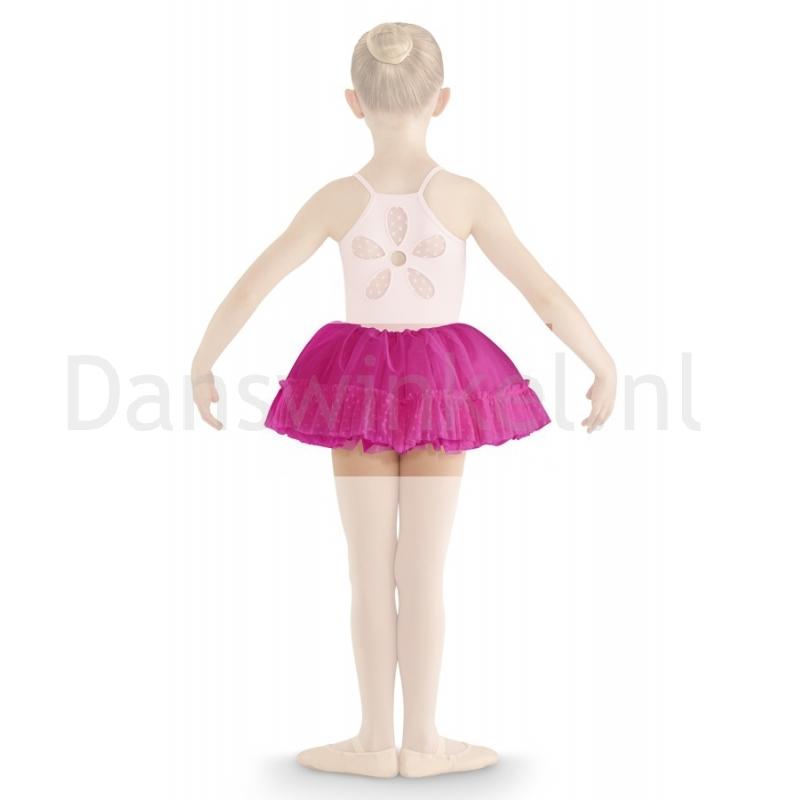 Bloch Addelyn Heart Mesh Tutu Skirt CR8111 Dark Pink