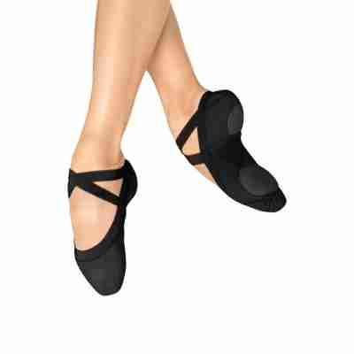 Bloch Pro Elastic S0621L Canvas Balletschoenen zwart