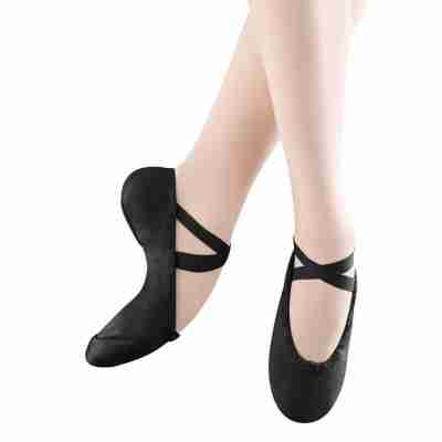 Bloch Pump Split Sole Canvas Ballet Shoe Zwart