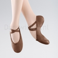 Bloch Pump Split Sole Canvas Ballet Shoe Brown