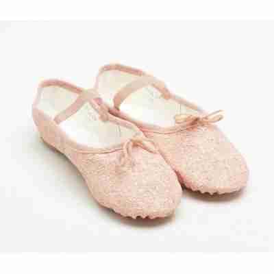 bloch S0291G sparkle roze balletschoenen met glitter voor meisjes