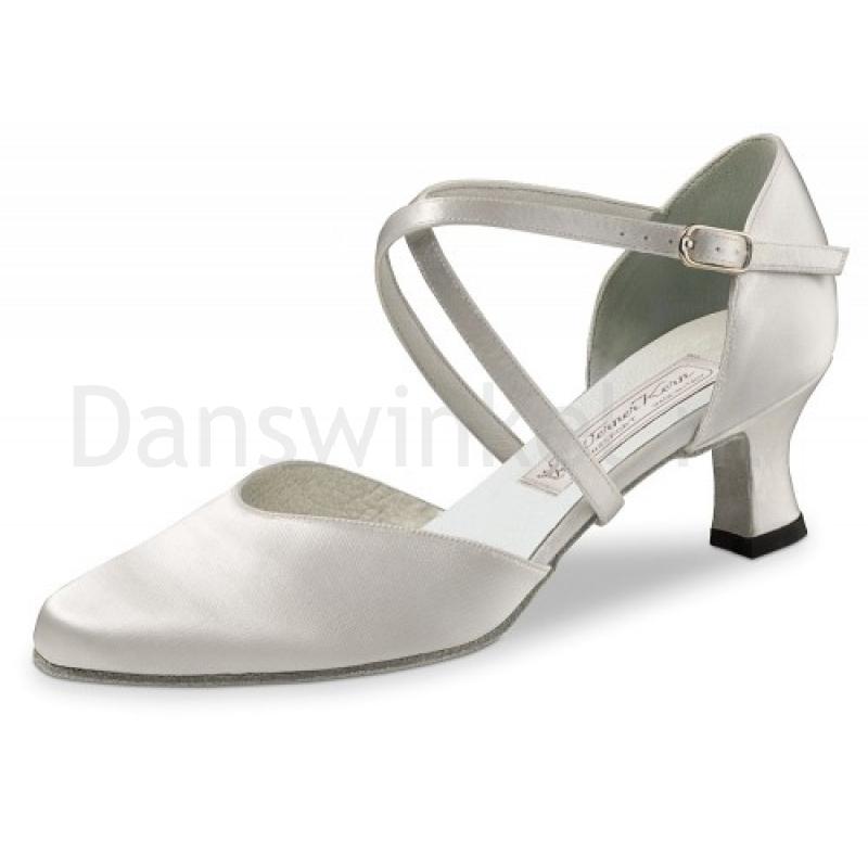 Dansschoenen voor Dames - Bruidsschoenen - Wit Satijn - Hak 5,5 cm - Werner Kern Bridal Patty