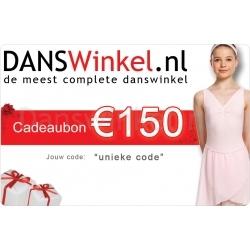Danswinkel cadeaubon 150 Euro