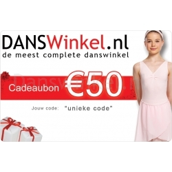 Danswinkel cadeaubon 50 Euro
