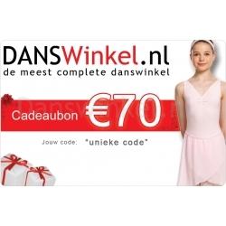 Danswinkel cadeaubon 70 Euro