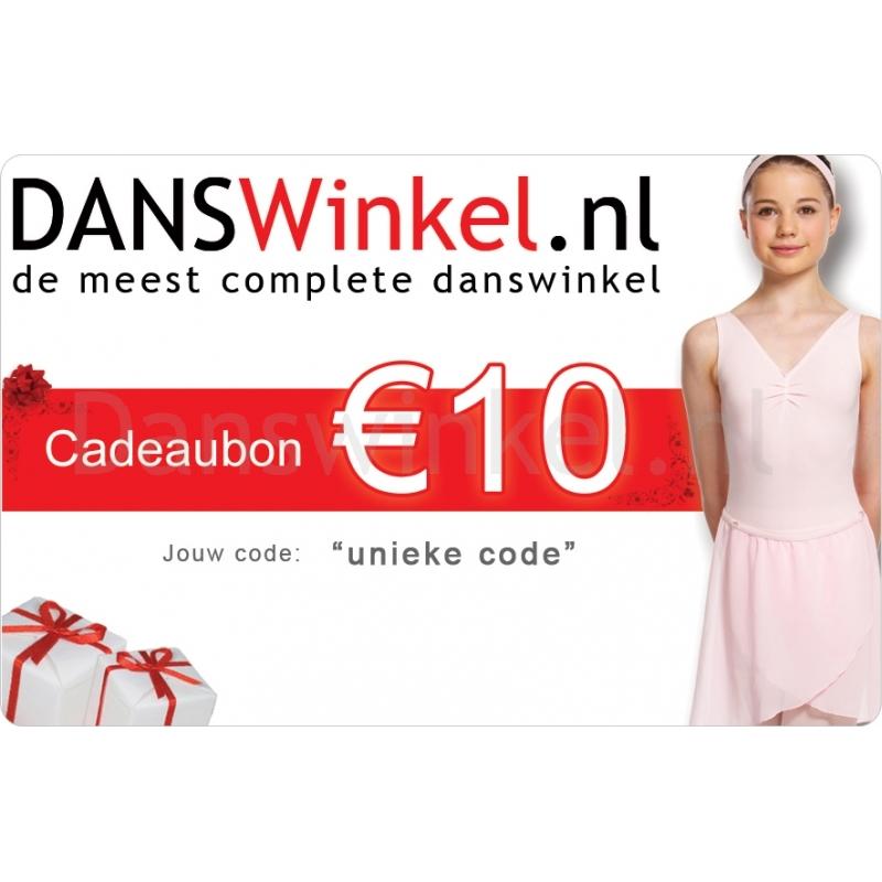 Danswinkel cadeaubon 10 Euro