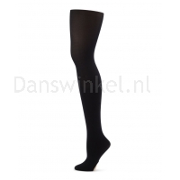 Capezio Ultra Soft Self gebreide band Transition Tights 1916 - zwart
