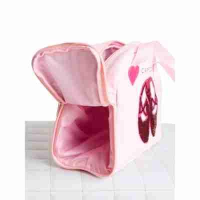 Capezio B240 Roze Ballettasje met zijvak voor dansschoenen
