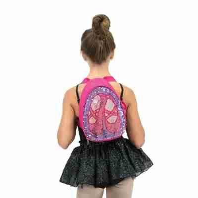 Omkeerbare Glitter-rugzak Hot-Pink
